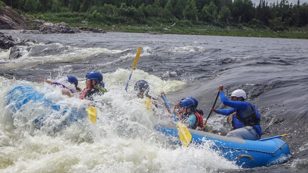 White Water rafting through the waves on the Exploits River