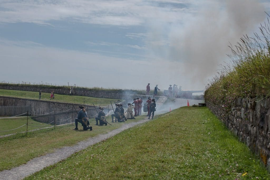 The smoke from the Cannon that Brooke just fired at the Fortress of Louisbourg during the military pageantry