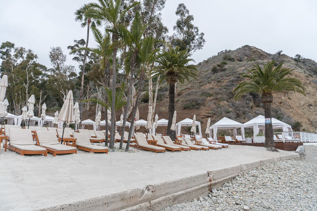 Lounge Chairs and Cabanas at the Descanso Beach Club