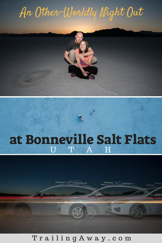 We drove the 1.5-hours out to Bonneville Salt Flats in Utah for sunset, but stayed long after the sun had hidden behind the mountains. Because this place was truly amazing and offered a sense of magic and peace we couldn\'t get enough of. Read why... #utah #saltflats #saltlakecity #hikes #mountains #fundrive