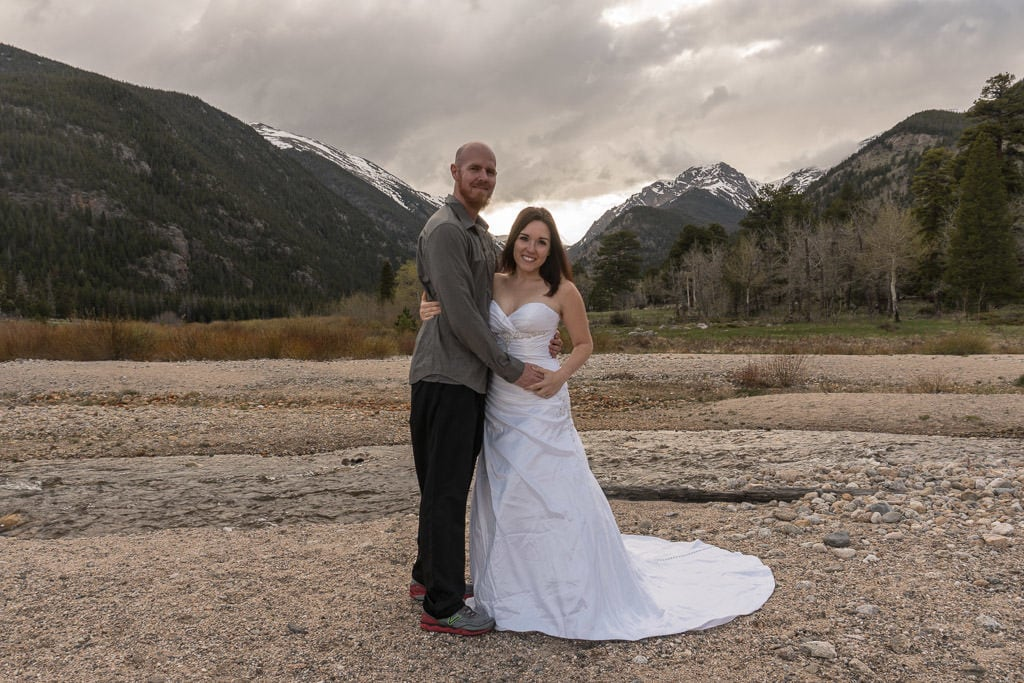 couple photo for rocky mountain vow renewal in colorado