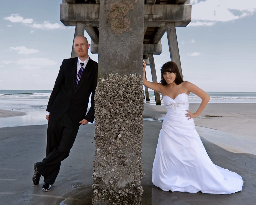 Florida beach wedding photo