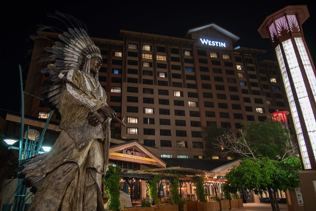 Outside of the Kachina Southwestern Grill and Westin Hotel in Westminster
