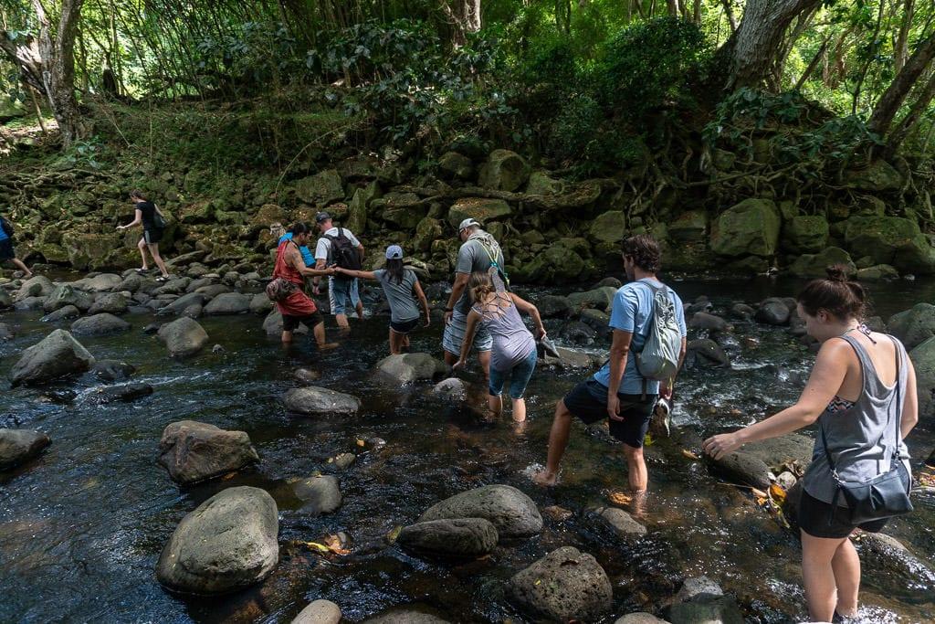halawa valley hike to falls