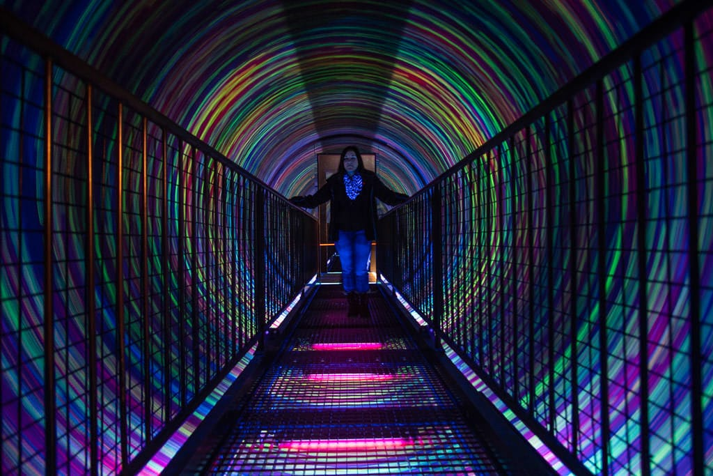 swirling color walkway at camera obscura in Edinburgh Scotland