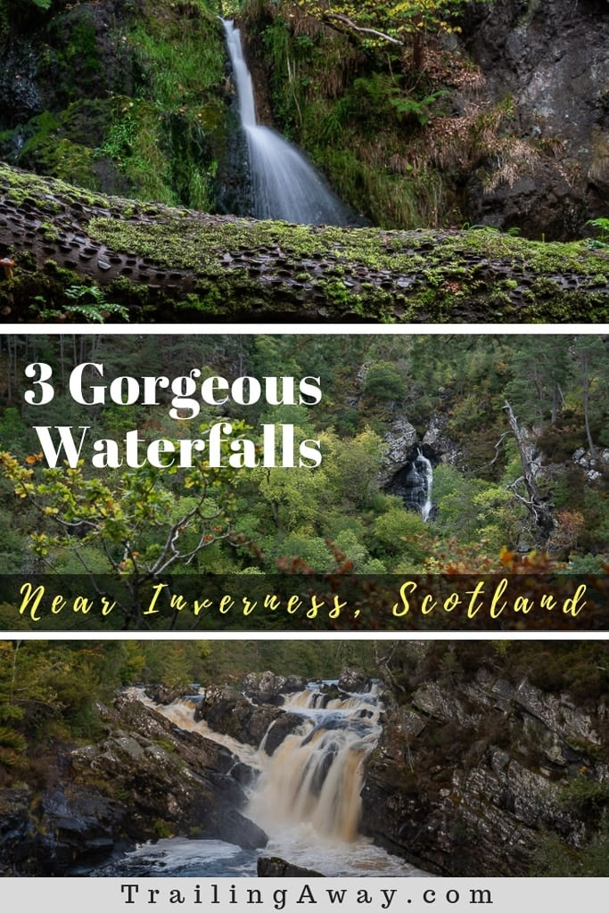 There are lots of beautiful waterfalls near Inverness, Scotland, that will offer breathtaking views and great photo opps. Here are our top three! #scotland #UK #waterfalls #hikes #europe #travel