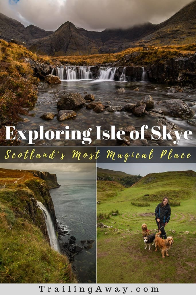 We knew it would be gorgeous and magical and unforgettable, but exploring Isle of Skye in Scotland was so much more than we even expected. From Old Man of Storr and Fairy Glen to the majestic Fairy Pools. Read why this is a must-visit! #Isleofskye #Scotland #edinburgh #fairyglen #hiking #unitedkingdom #waterfalls