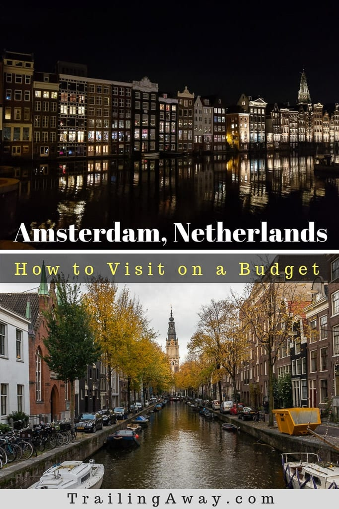 Visiting a big European city isn\'t usually nice on your wallet. But, it is possible to see Amsterdam on a budget - museums and all! Here are some tips as well as things to do in Amsterdam for a budget friendly trip. #Amsterdam #Holland #Netherlands #Budgettrip #Canals #Europetrip #Museumhopping #VanGogh