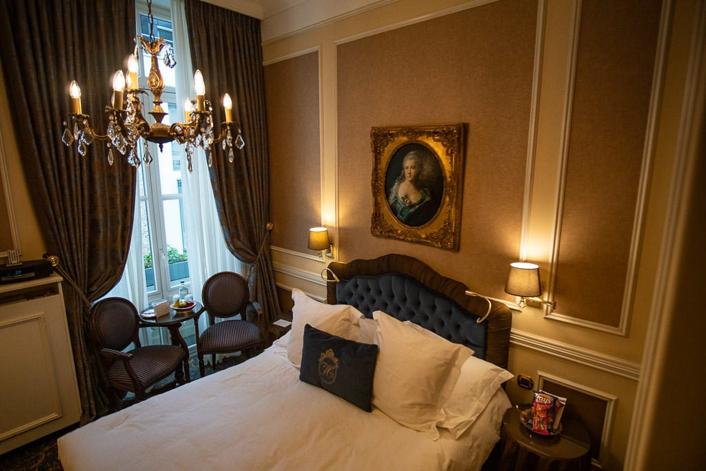 room at Hotel Heritage – Relais & Chateaux during two days in bruges, belgium