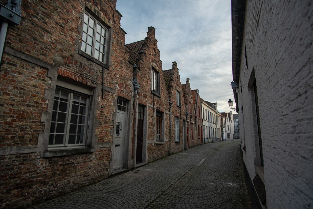 side street in bruges belgium