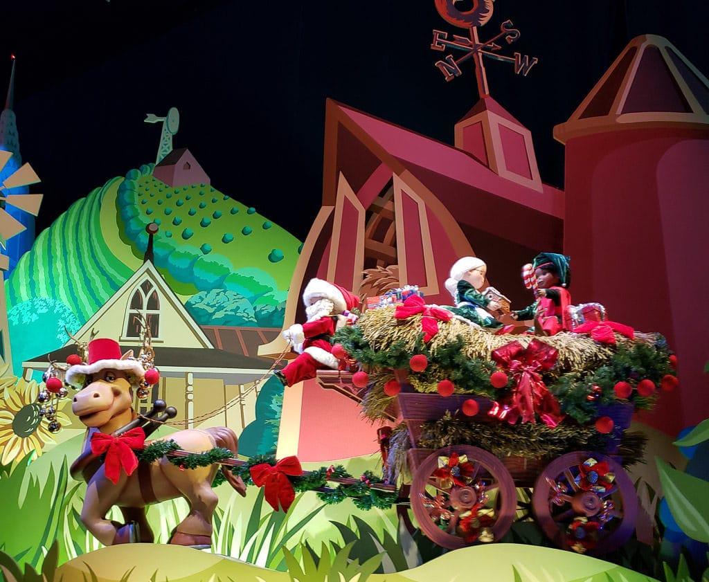 its a small world at disneyland paris at christmas