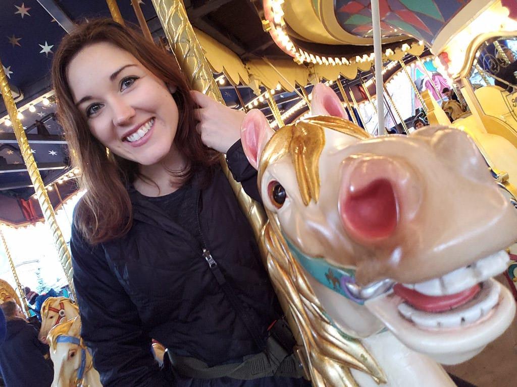 on carousel at disneyland paris