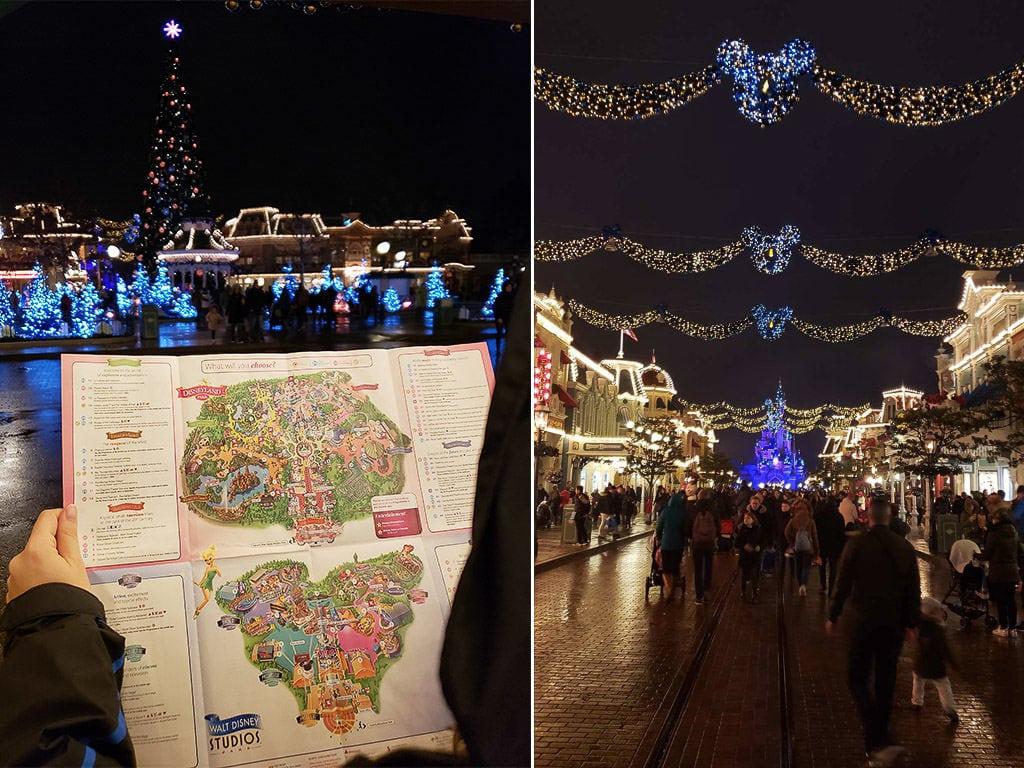 map of disneyland paris and christmas decor