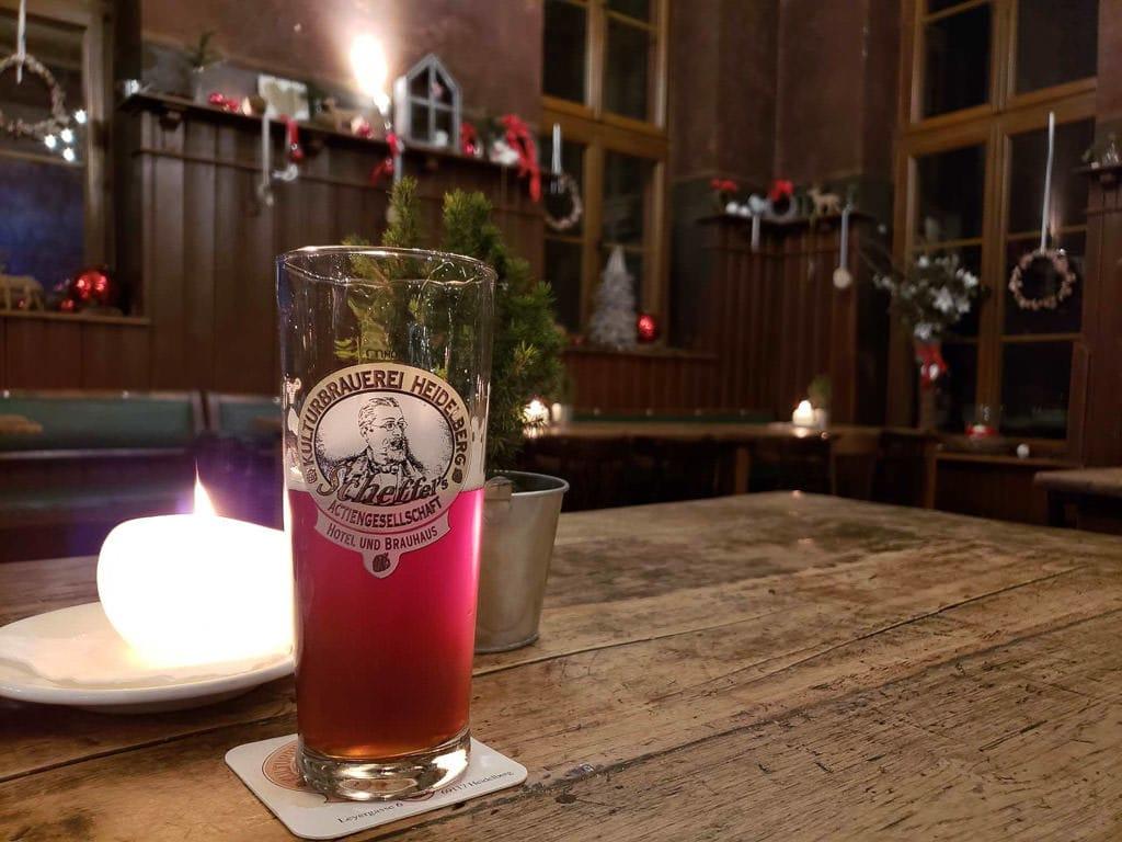 sampling the beer at Heidelberger Kulturbrauerei in heidelberg germany