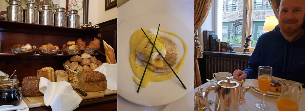 breakfast at Hotel Heritage – Relais & Chateaux during two days in bruges, belgium