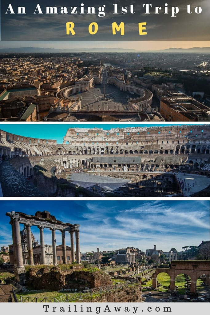 The history, the food, the architecture -your first trip to Rome and Vatican City is sure to stand out. Make sure you do it right with these tips. #rome #italianfood #colloseum #romanforum #vaticancity #history