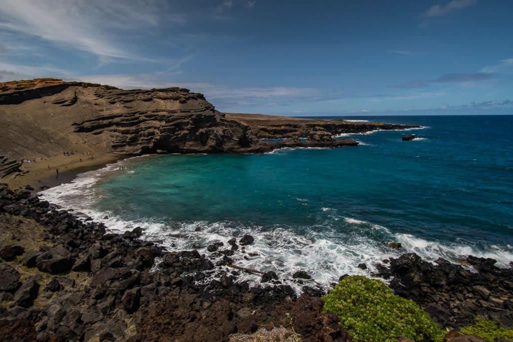 Papakolea Green Sand Beach in Big Island Hawaii