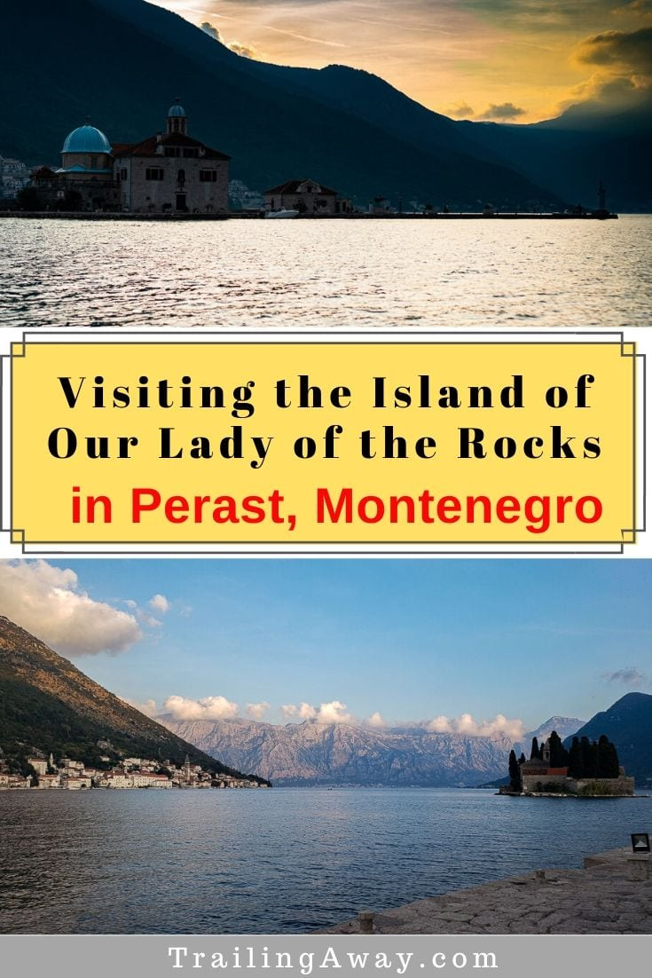 Taking the short water taxi trip to the island of Our Lady of the Rocks in Perast was a highlight of our visit to gorgeous Montenegro. Read our tips for going. #perast #montenegro #ourladyoftherocks #europe