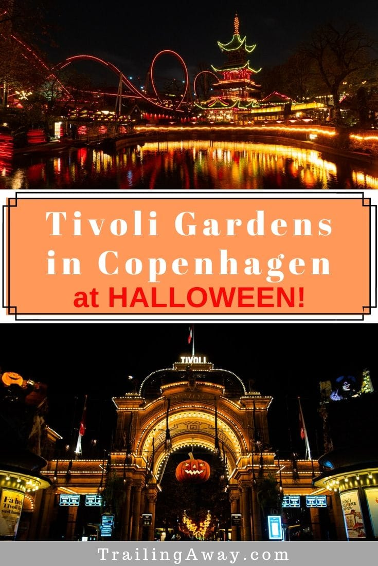 Copenhagen\'s historic amusement park is one of the most charming and fun around. But, Tivoli Gardens at Halloween is even better! Read our guide to visiting the second oldest amusement park in the world - which Walt Disney even used for inspiration! #tivoligardens #copenhagen #europe #amusementpark