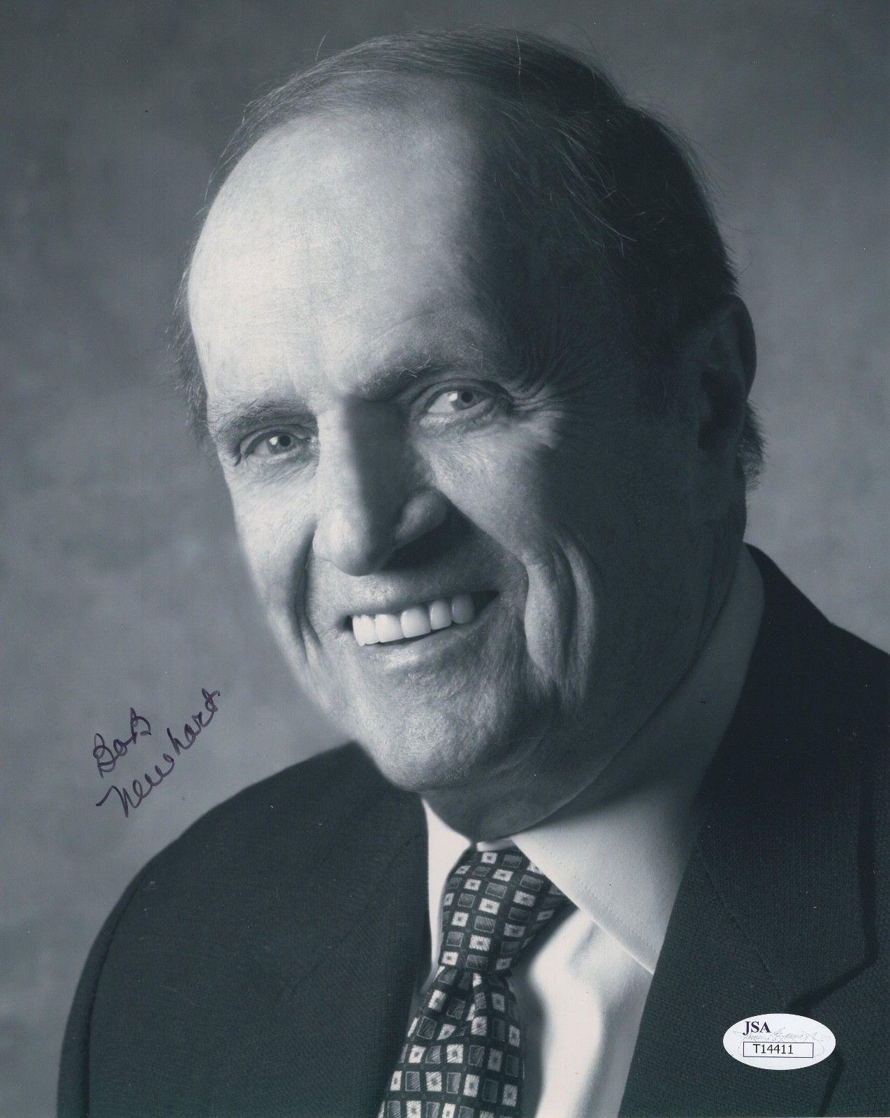 BOB NEWHART HAND SIGNED 8x10 PHOTO AWESOME POSE NEWHART SHOW - JSA Certified