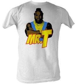 Mr. T T-Shirt - Cartoon T A-Team Adult White Tee Shirt