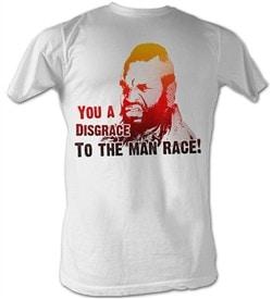 Mr. T T-Shirt Disgrace Fade A-Team Adult White Tee Shirt