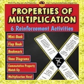 Properties of Multiplication Practice Activies