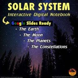 Solar System Interactive Digital Notebook