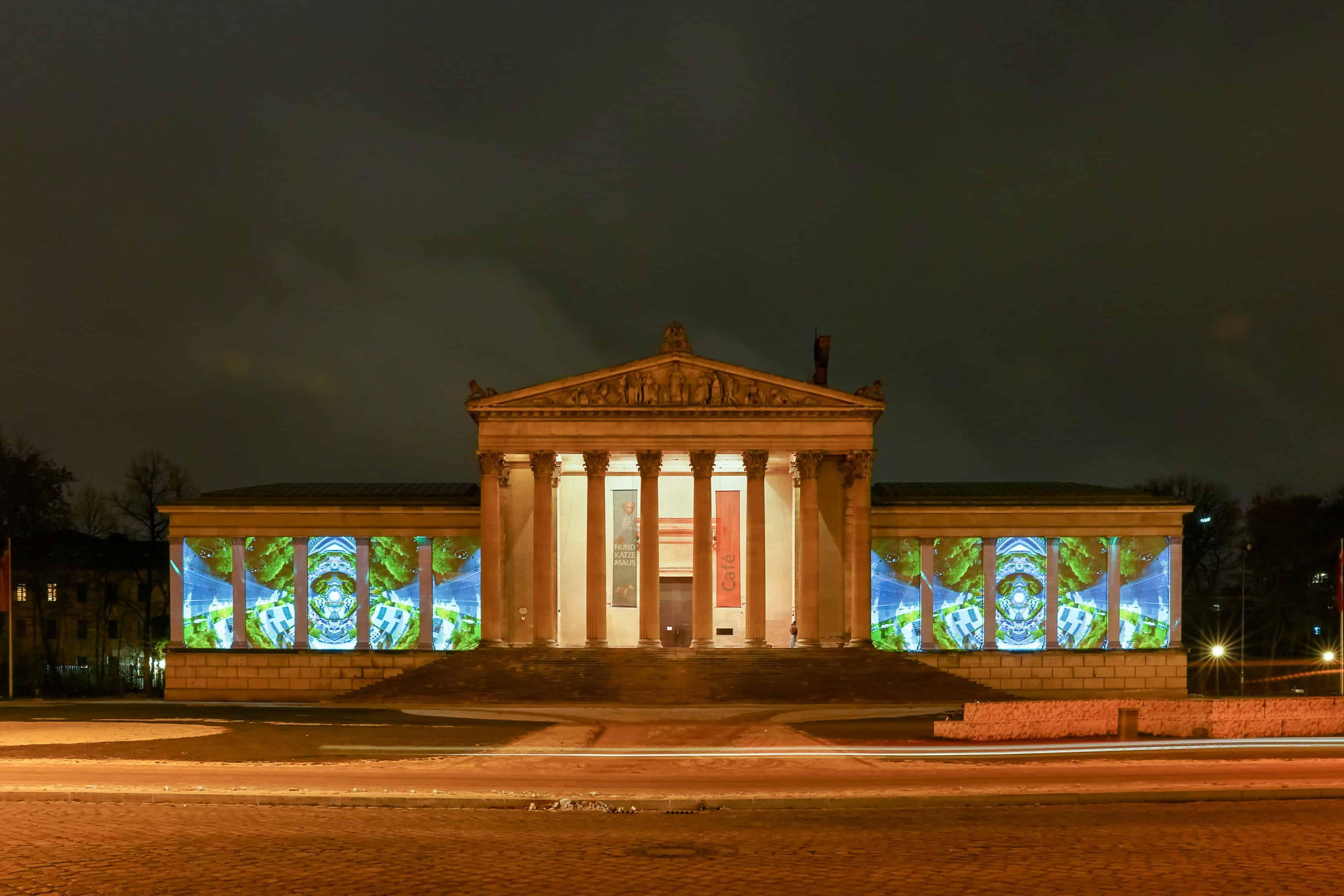 Das Münchner Kunstareal leuchtet