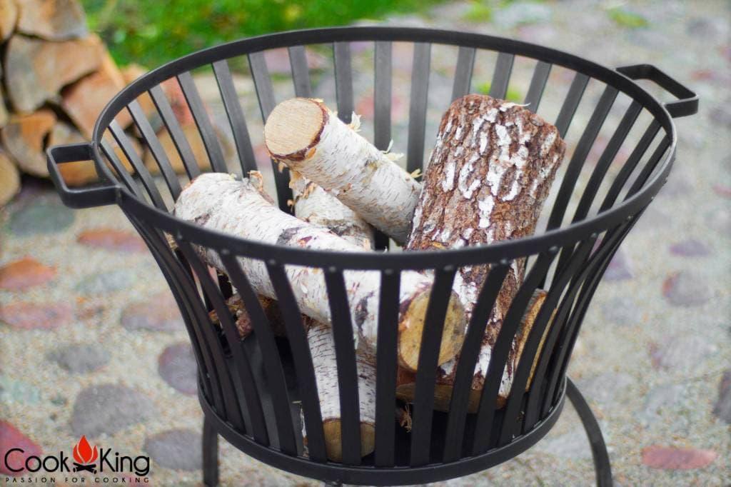 Cookking vuurkorf Ibiza + grillrooster black steel (set) – Vuurkorf ibiza + grillrooster black steel 44×44