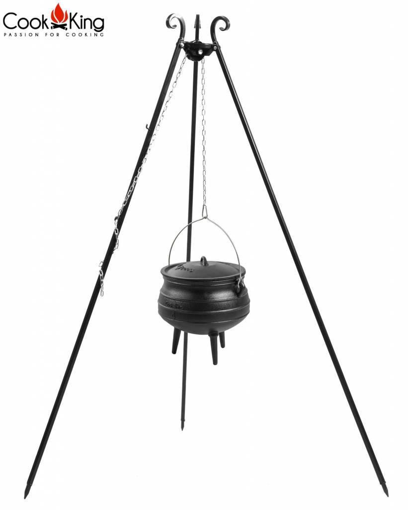 Statief recht 180cm met Afrikaanse kookpot (set)