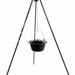 Cookking statief recht 180cm met emaille ketel (set)
