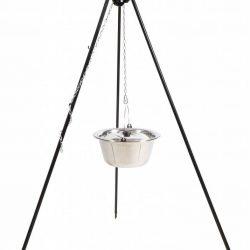Cookking statief recht 180cm met RVS ketel