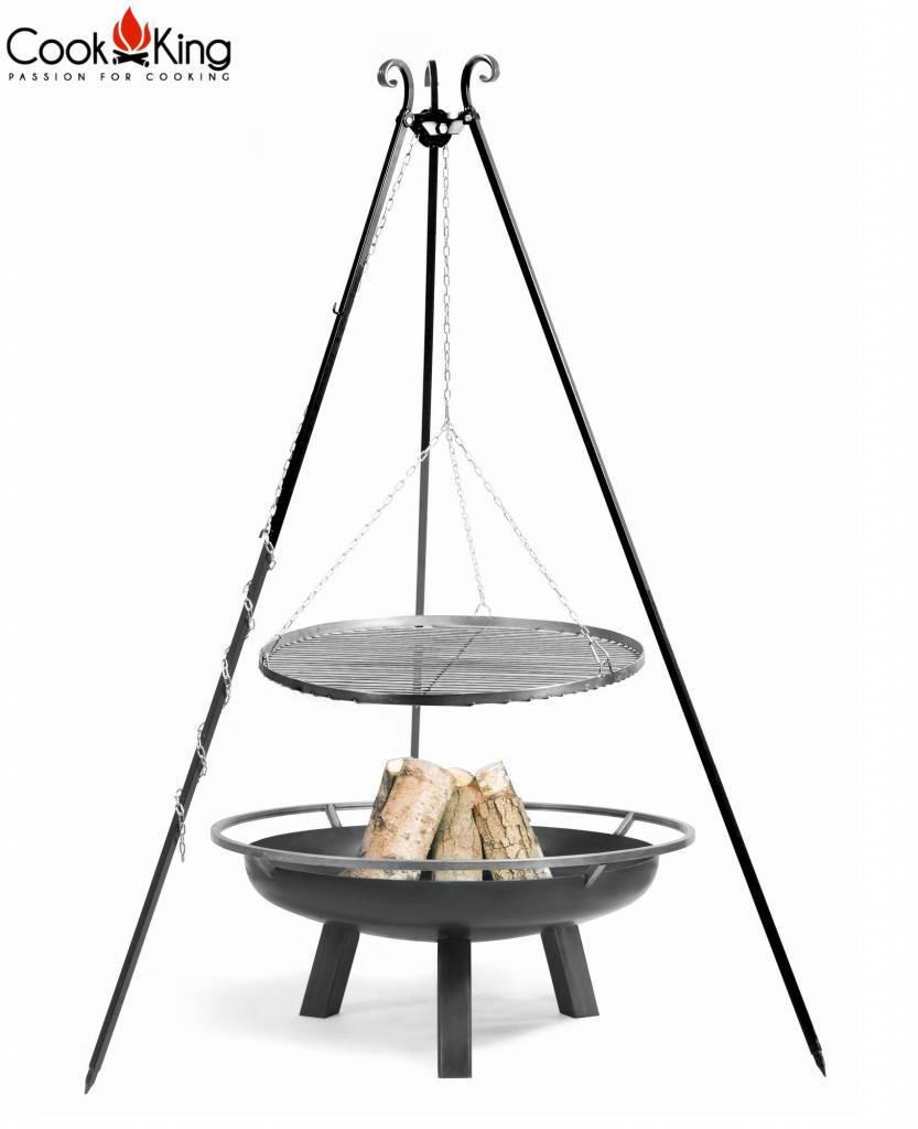 Statief 180cm + grillrooster + vuurschaal Porto – Statief 180cm + grillrooster 50cm + vuurschaal Porto 60cm