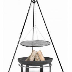 statief 180cm + grillrooster + vuurschaal Viking – Statief 180cm + grillrooster 80cm + vuurschaal Viking 100cm