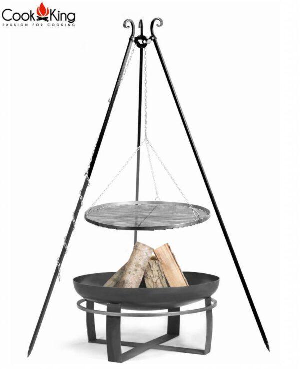 statief 180cm + grillrooster + vuurschaal Viking – Statief 180cm + grillrooster 60cm + vuurschaal Viking 70cm
