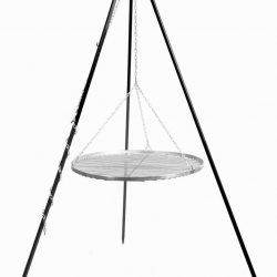 Driepoot 180 cm met RVS grillrooster – Driepoot 180 cm met RVS grillrooster 60 cm