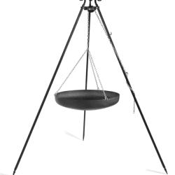 Driepoot 180 cm met stalen pan/wok CookKing