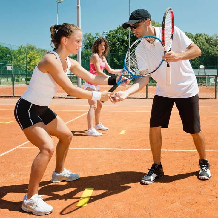 Adult tennis lesson