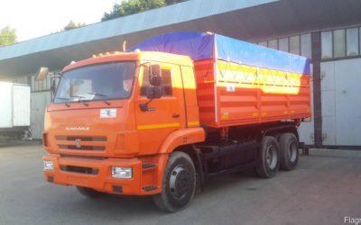 Самосвальный автомобиль зерновоз Камаз 45143, объем 24 куб.м