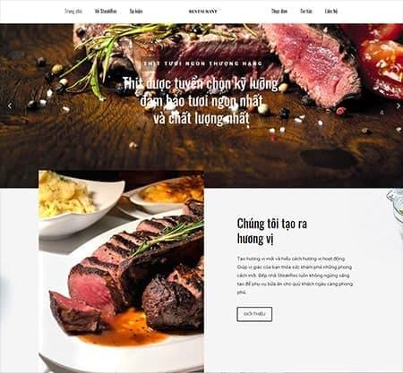 Website nhà hàng steak