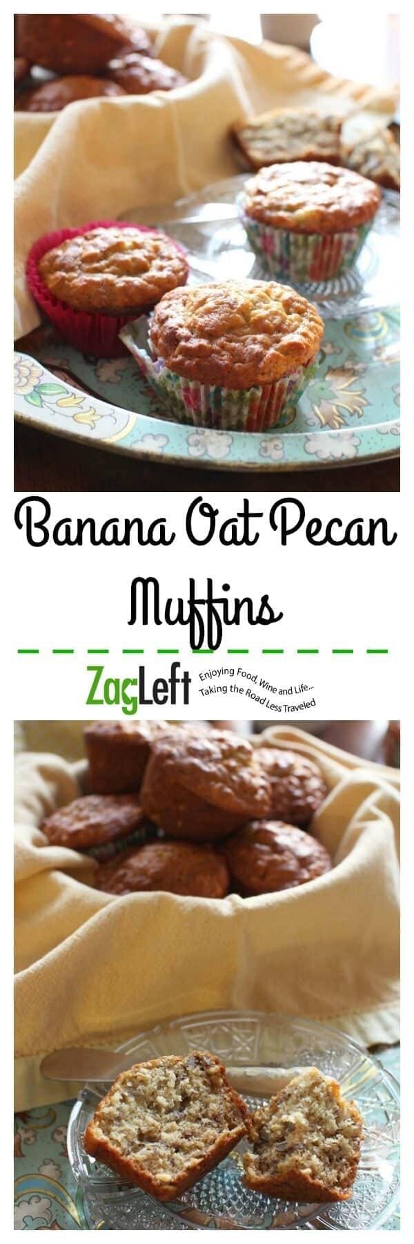 Banana Oat Pecan Muffins Pinterest | ZagLeft