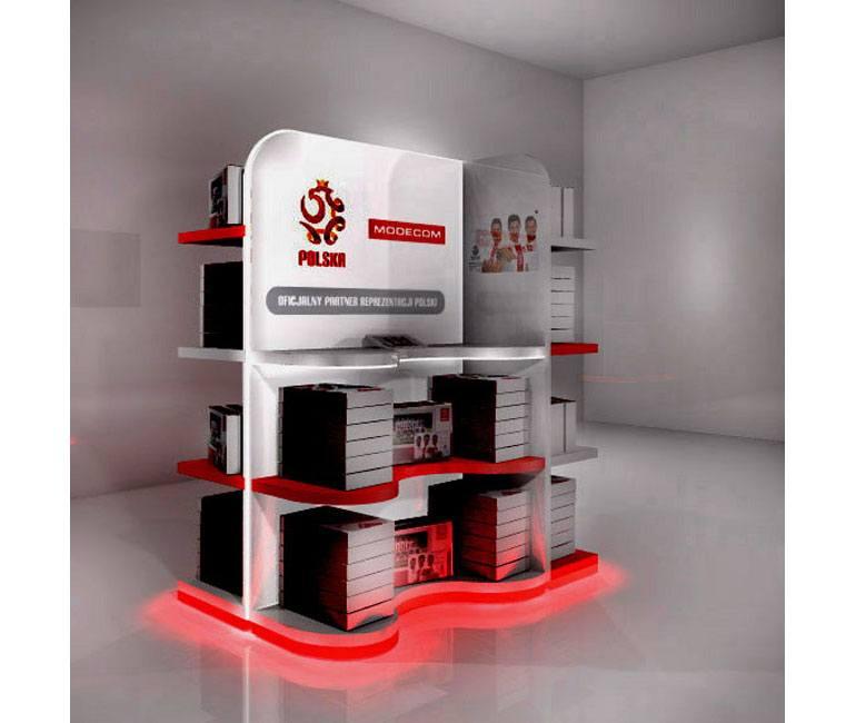 Projekt 3D ekspozytora POS
