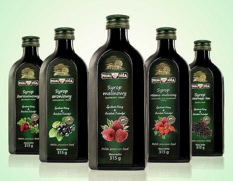 projekty etykiet na butelki syropu