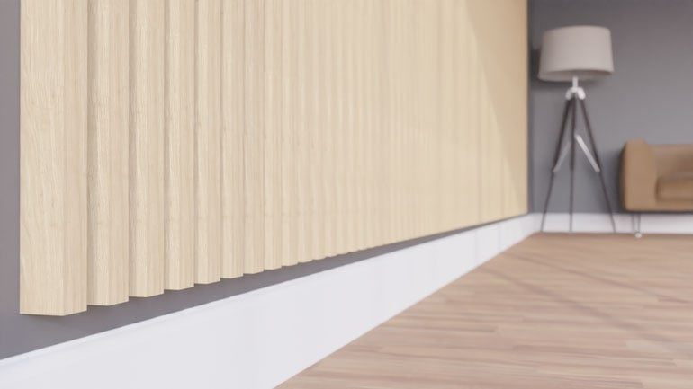lamele drewniane - wizualizacja produktu