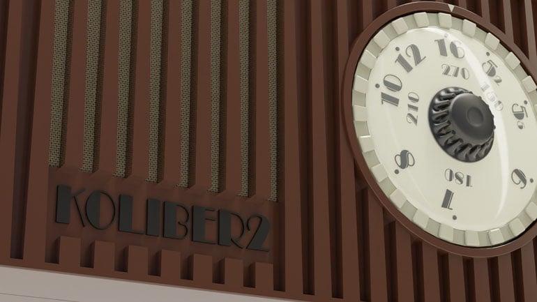 render produktowy 3d - radio Koliber