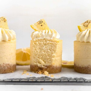 Baked Mini Japanese Yuzu Cheesecakes