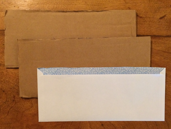 How to Pack - Cut 2 pieces cardboard to size of envelope