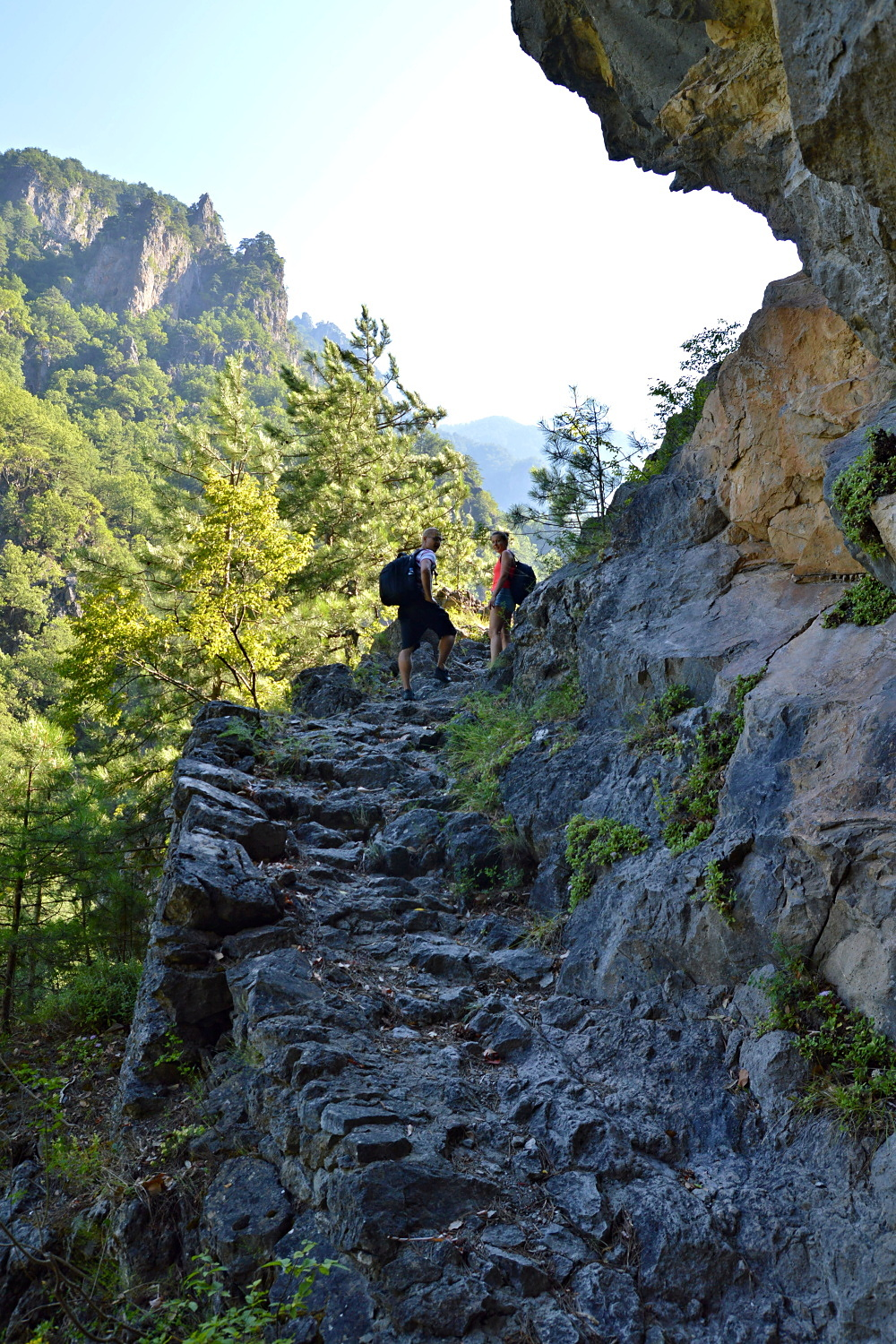 Hiking in the Aoos Gorge, Greece