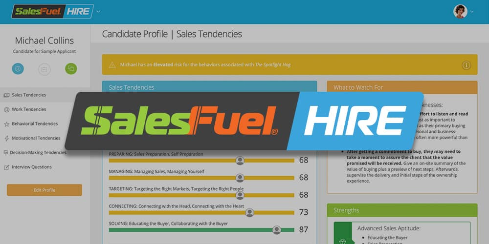 AI Driven Sales Hiring - SalesFuel HIRE
